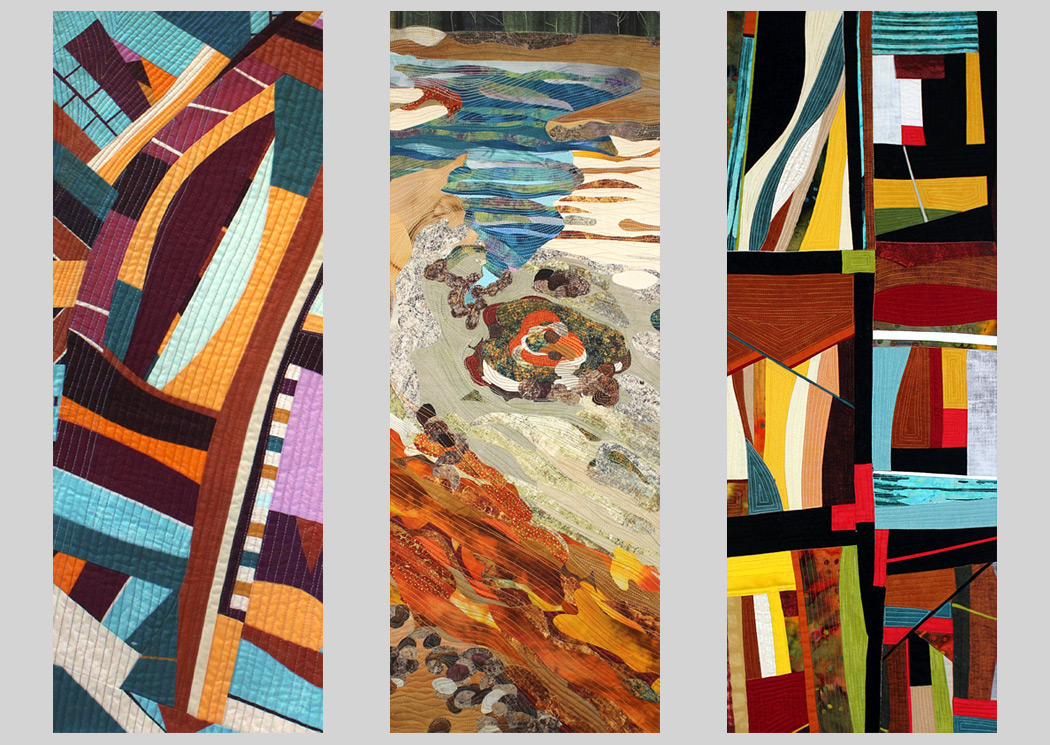 Carole Rossi - collage of 3 art quilts